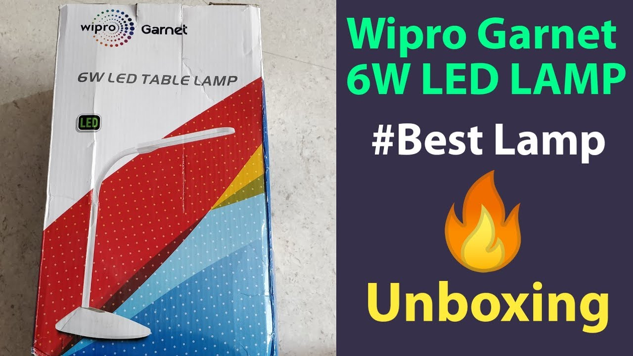 Wipro Garnet 6w Led Table Lamp Unboxing Study Lamp pertaining to proportions 1280 X 720