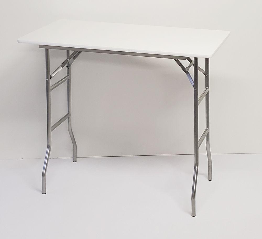 24x48 Bar Height Rectangular Extra Tall Folding Table 41 Inch Height regarding proportions 1000 X 912