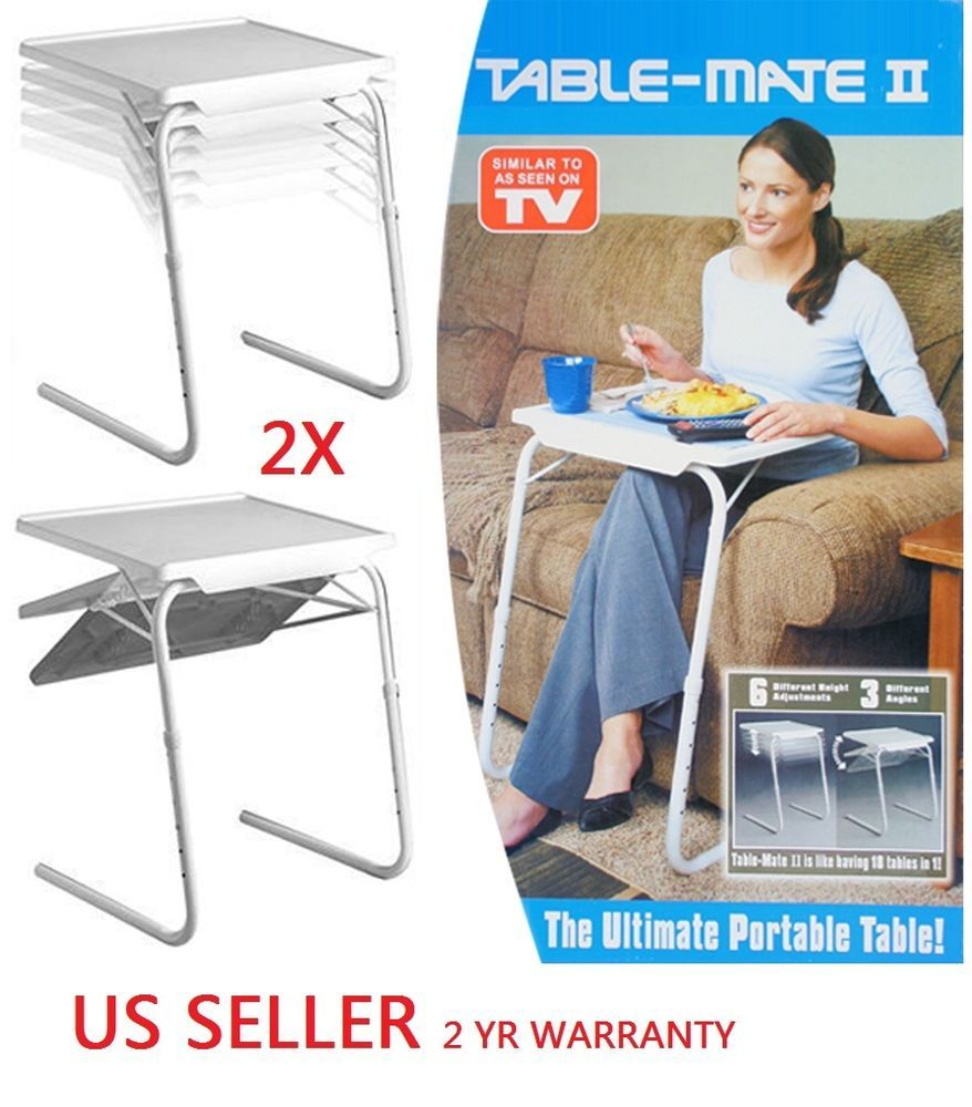 2x H33 Smart Table Mate Ii Foldable Folding Tablemate As with regard to dimensions 878 X 1000