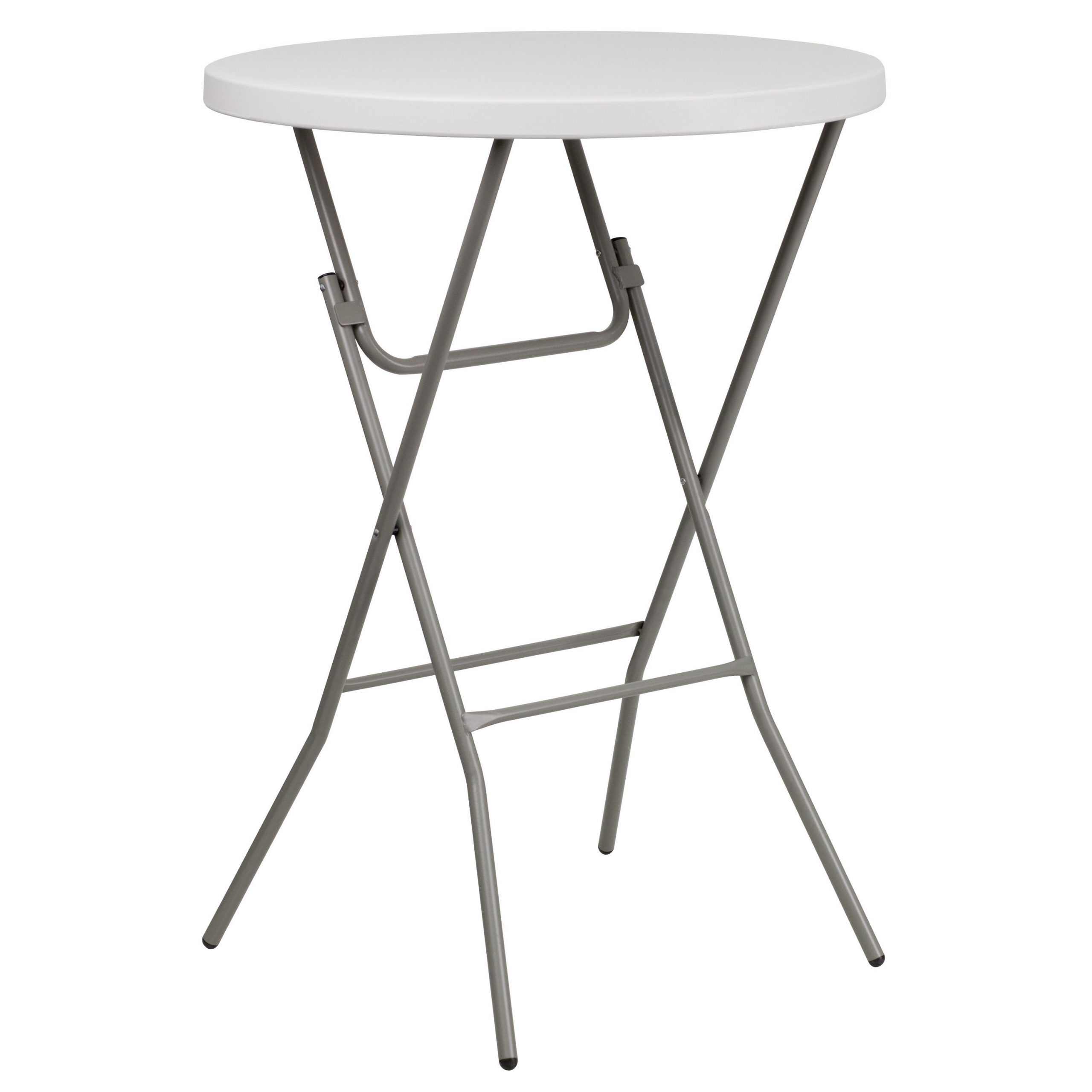 32 Inch Round Granite White Plastic Bar Height Folding Table for proportions 3000 X 3000