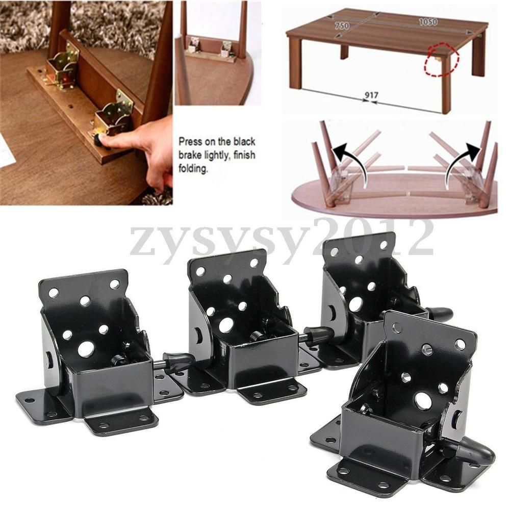 4 X Folding Table Leg Brackets Foldable With Locking In in measurements 1000 X 1000