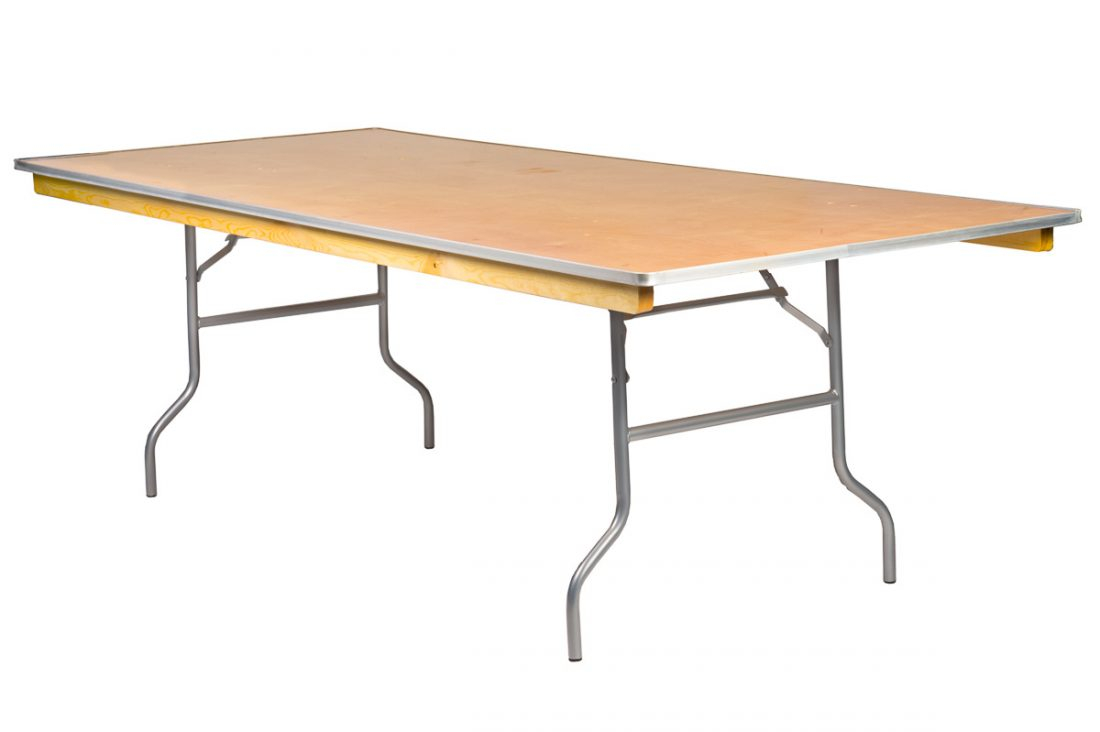 96x48 Rectangle Heavy Duty Plywood Banquet Table Includes Free Metal Edge Upgrade intended for measurements 1100 X 732