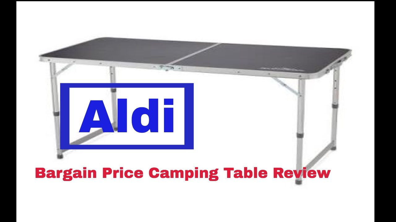 Adventuridge Camping Table From Aldi Review with regard to sizing 1280 X 720