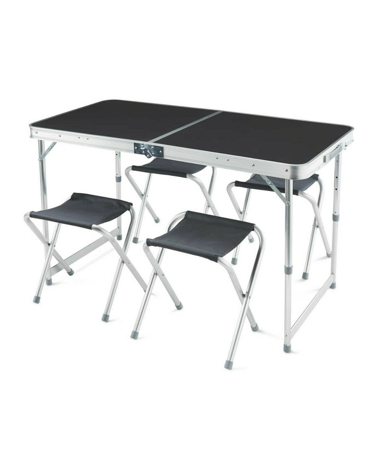 Adventuridge Foldable Camping Furniture Set Portable Picnic Table 4 Chairs throughout measurements 1280 X 1600