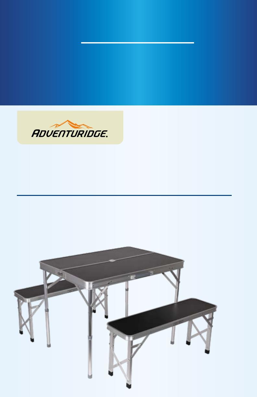 Adventuridge Portable Table With Benches 96175 Manual regarding sizing 792 X 1224
