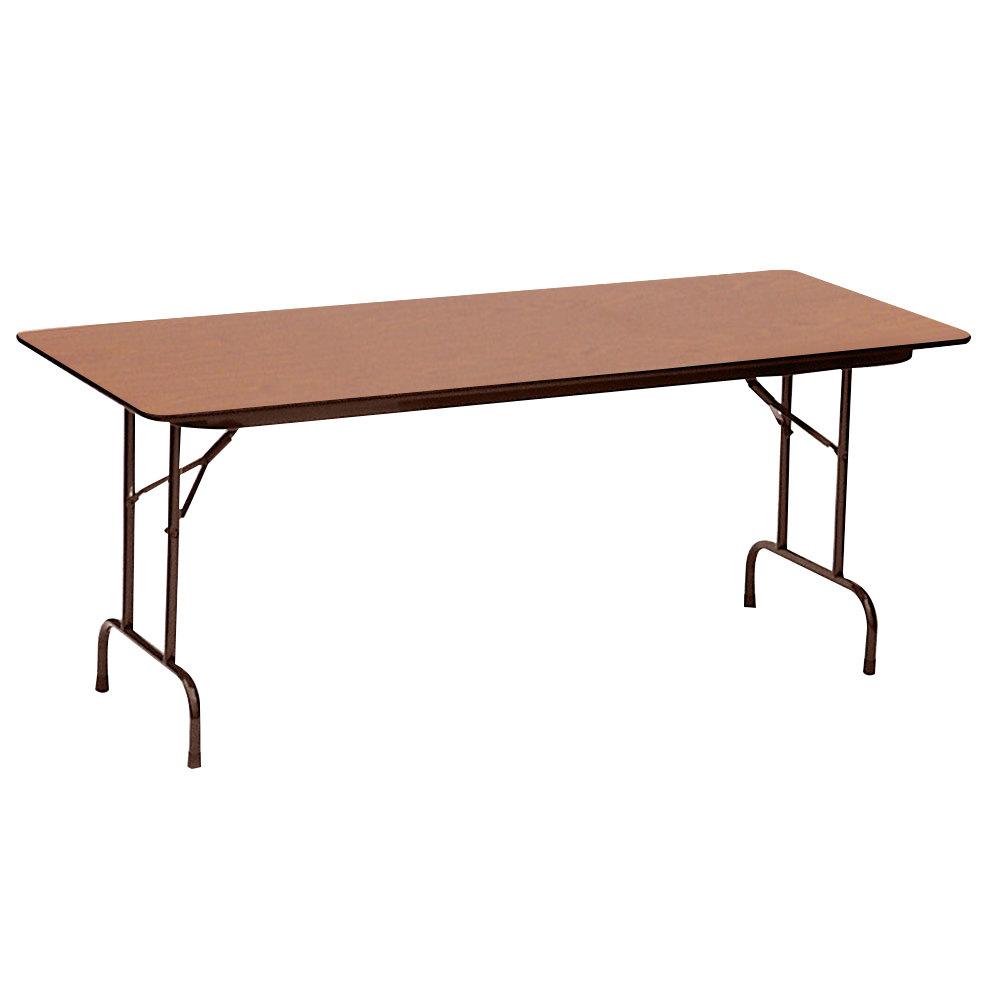 Correll Cf3696px06 36 X 96 Rectangular Medium Oak High Pressure Heavy Duty Folding Table with regard to size 1000 X 1000