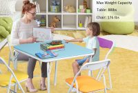 Costway Kids 5 Piece Folding Table Chair Set Children intended for size 1200 X 1200