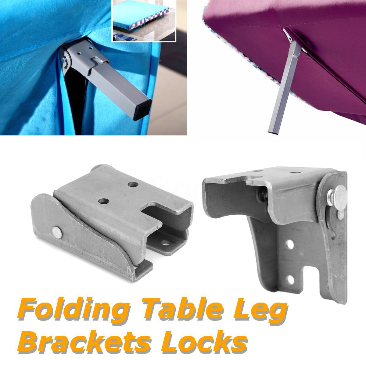 Details About 124pcs Diy Folding Table Leg Bracket Fittings Self Lock Foldable Feet Hinges with regard to dimensions 1200 X 1200