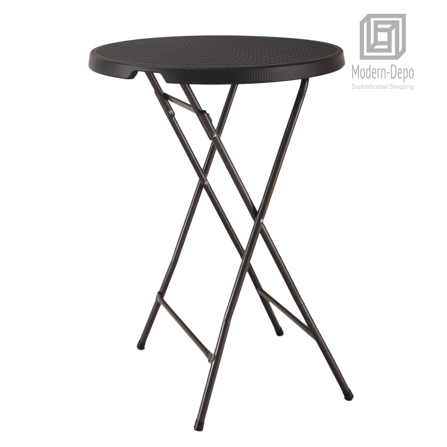 Details About Plastic Bar Height Folding Table Portable Round Bistro Patio Table 32 X 43 regarding size 1500 X 1500