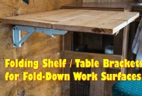 Folding Table Brackets Flip Up Wall Mount Easy Diy Love These regarding proportions 1280 X 720