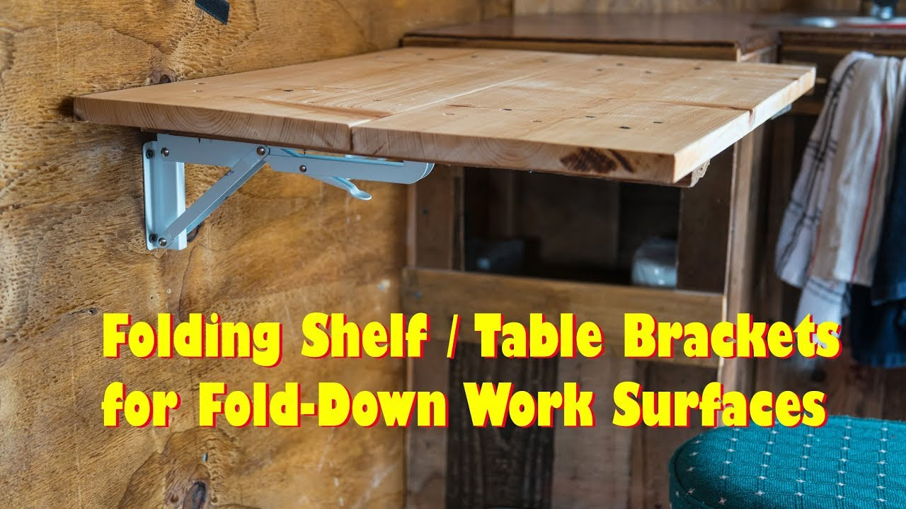 Folding Table Brackets Flip Up Wall Mount Easy Diy Love These with regard to dimensions 1280 X 720