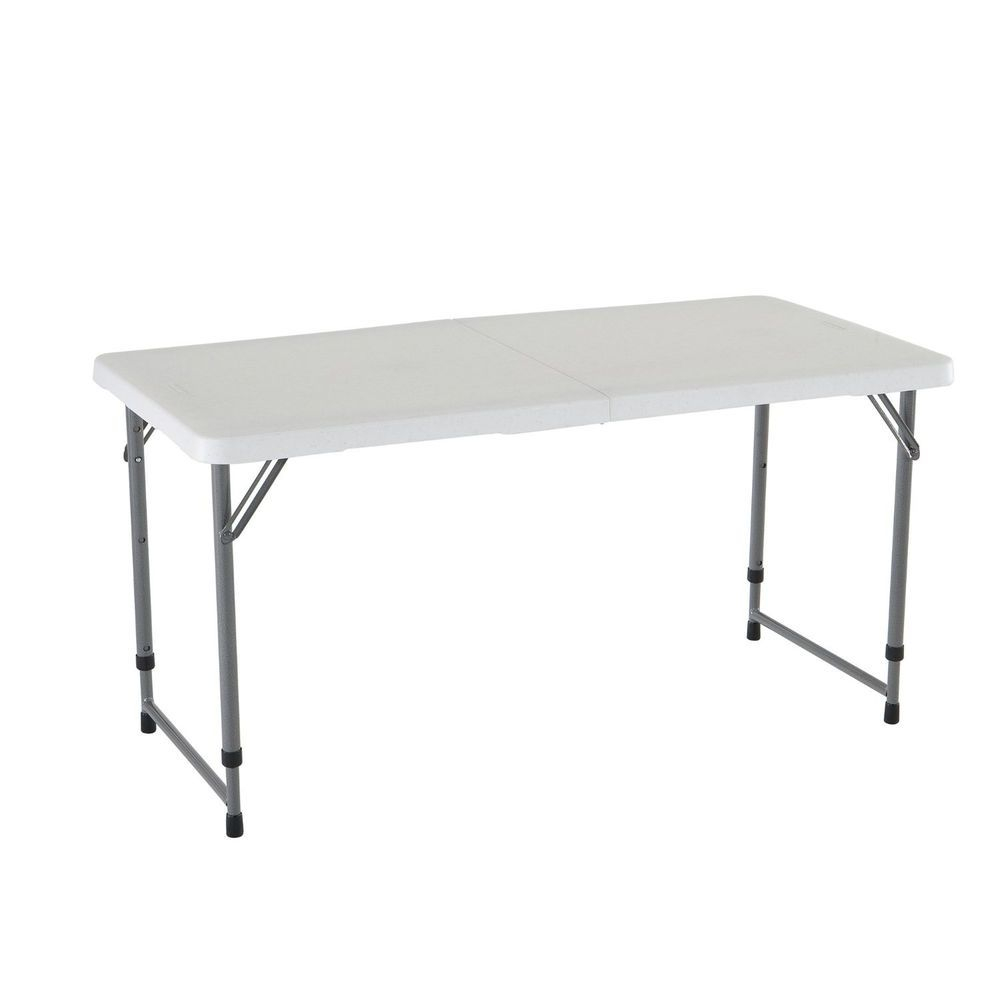 Folding Utility Table Portable Plastic Height Adjustable throughout dimensions 1000 X 1000