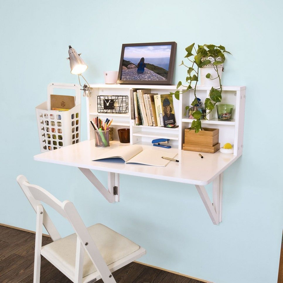 Furniture Wall Mounted Desk Fold Away Study Table Painted throughout sizing 966 X 966