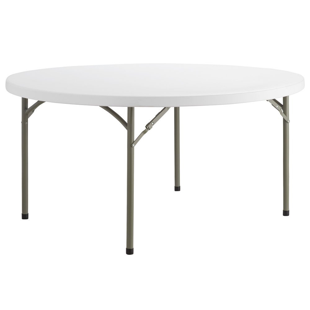 Lancaster Table Seating 60 Round Heavy Duty Granite White Plastic Folding Table pertaining to dimensions 1000 X 1000
