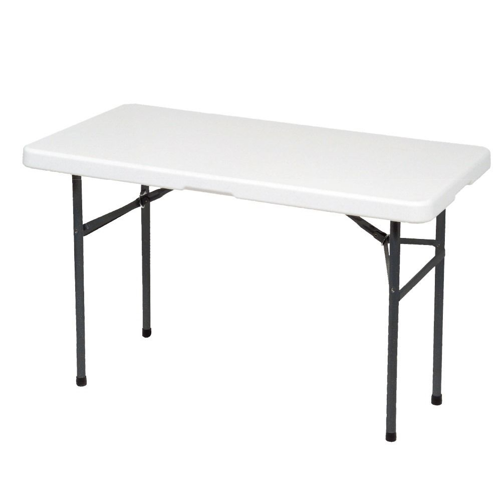 Lifetime 4428 Height Adjustable Folding Utility Table White in size 1000 X 1000