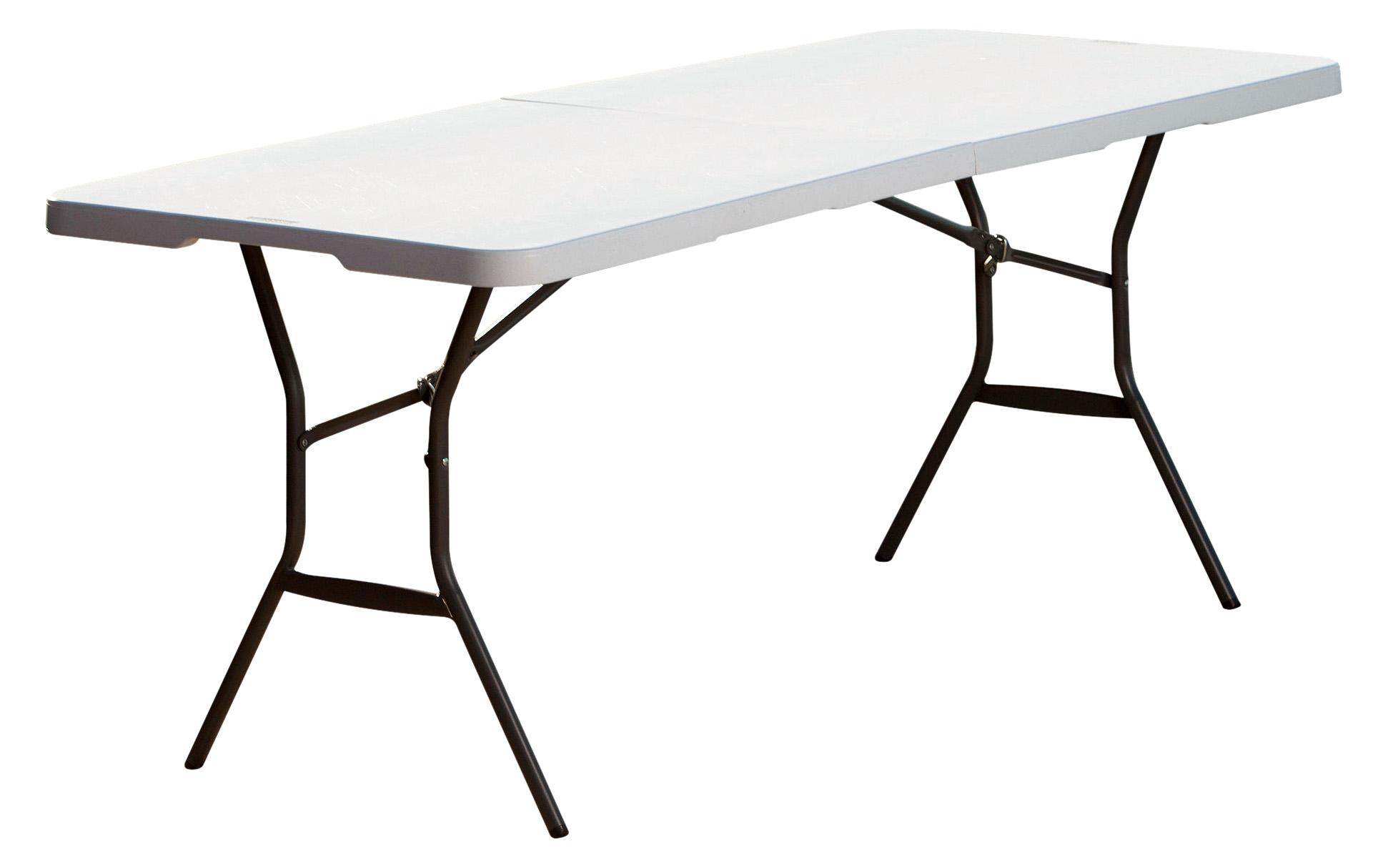 Lifetime 6 Fold In Half Table White Granite Walmart intended for size 1942 X 1214
