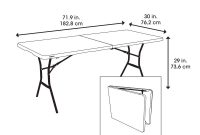 Lifetime 72 In Almond Plastic Portable Folding Card Table with size 1000 X 1000