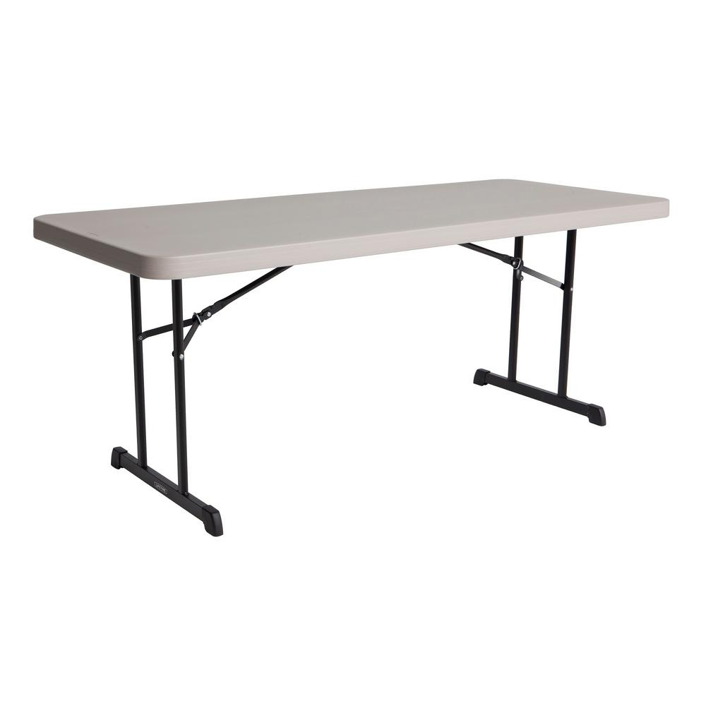 Lifetime 72 In Putty Plastic Folding Banquet Table inside proportions 1000 X 1000