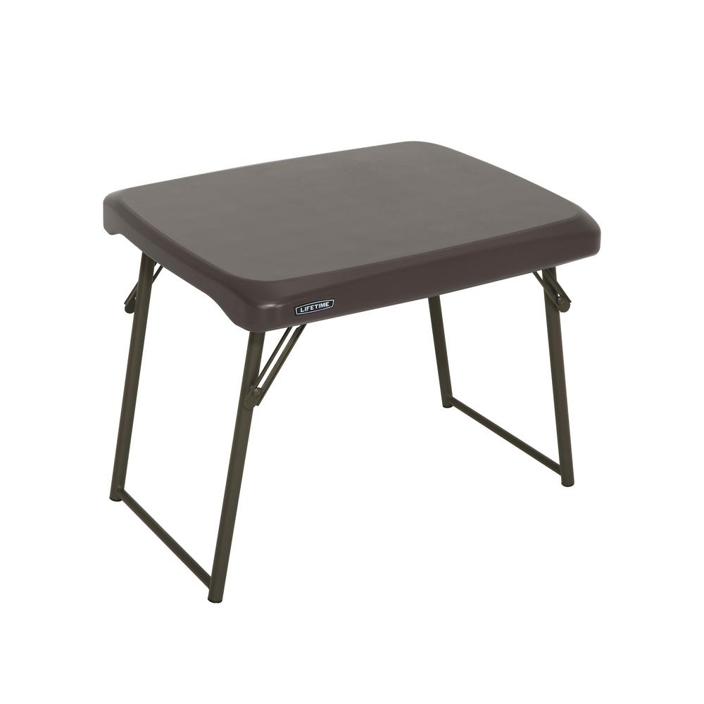 Lifetime Brown Compact Folding Table throughout dimensions 1000 X 1000