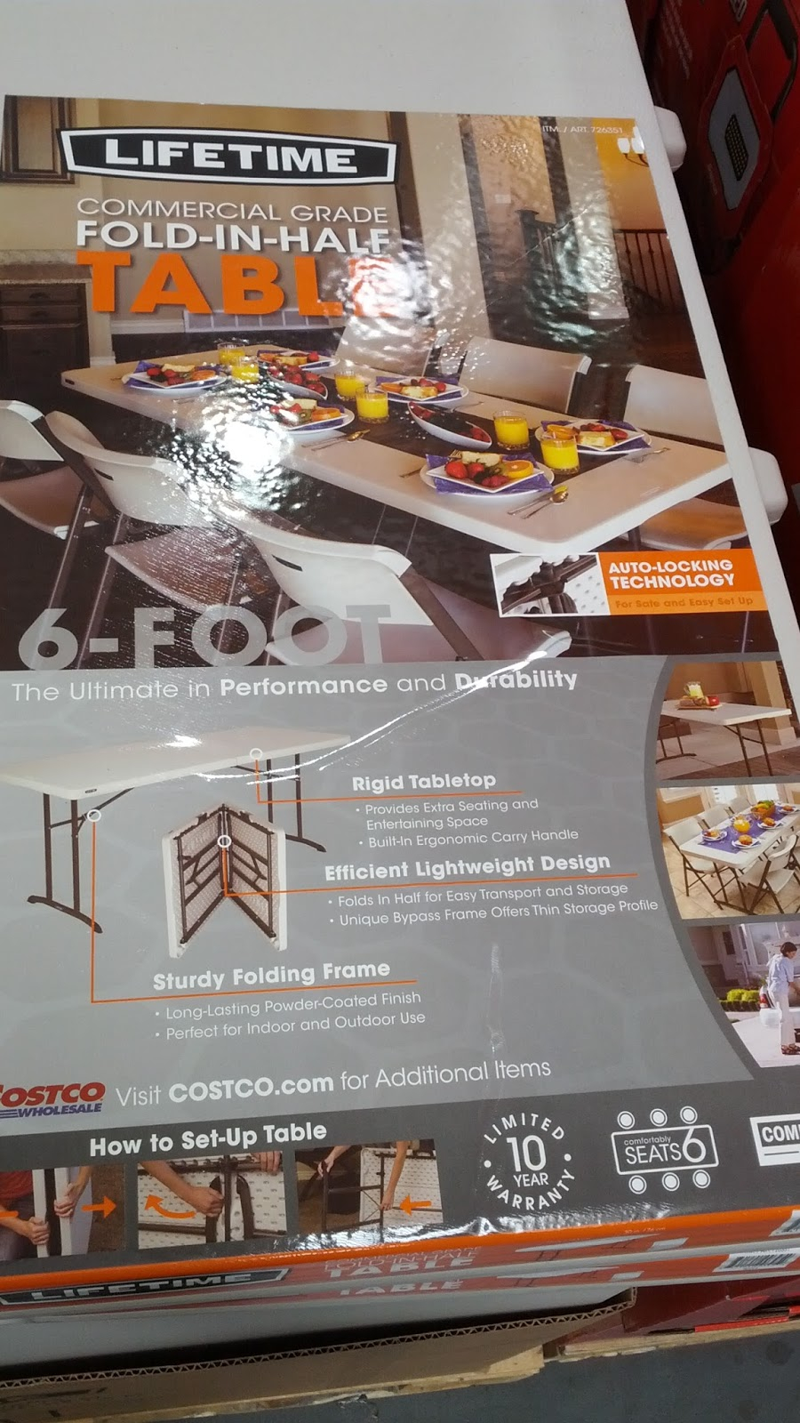 Lifetime Commercial Grade 6 Ft Fold In Half Table Model intended for dimensions 900 X 1600