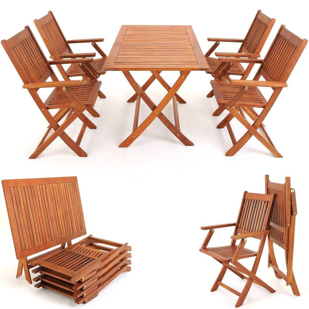 Outdoor Furniture Dining Set Foldable Table Chairs Garden pertaining to measurements 1000 X 1000