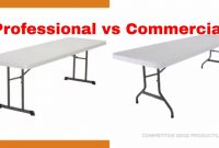 Professional Vs Commercial 8 Ft Lifetime Tables with regard to dimensions 1280 X 720