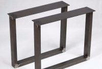 Raw Steel Table Bench Legs U Or X Shape Metal Tubing intended for sizing 960 X 960