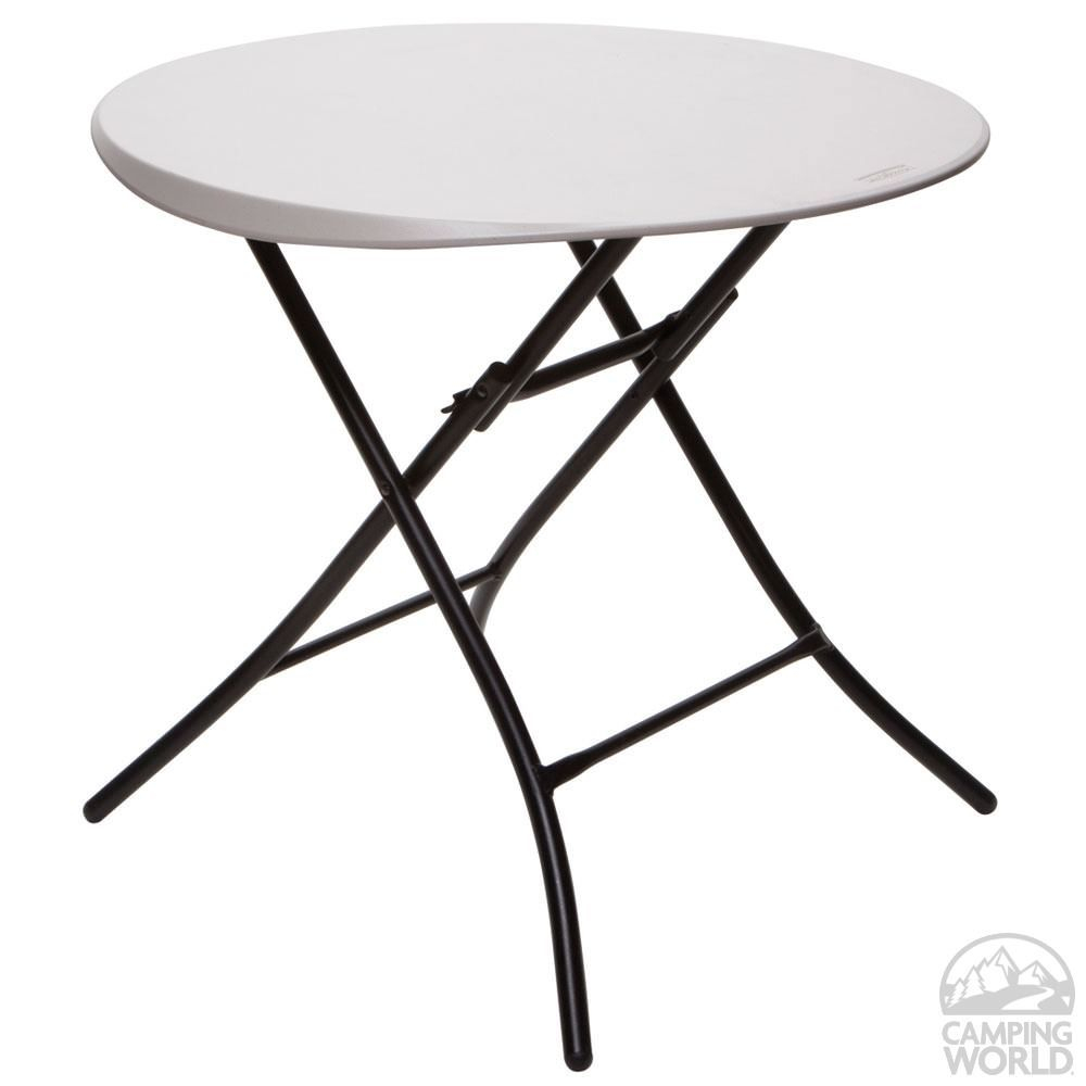 Round Personal Folding Table Lifetime 80230 Folding in sizing 1000 X 1000