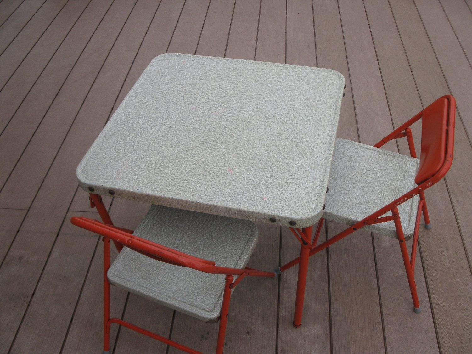 Samsonite Childs Table And Chairs Folding Chairs All Metal inside sizing 1500 X 1125