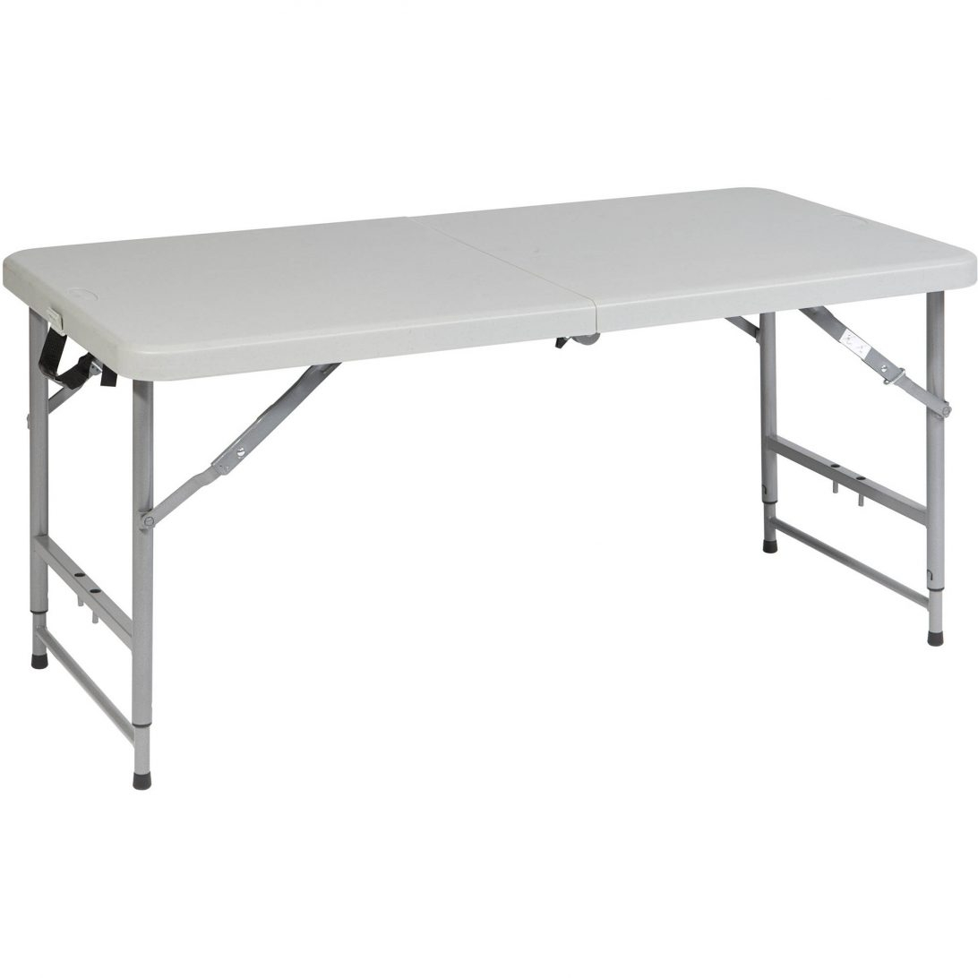Small Folding Table Adjustable Height Lifetime 4 Foot Weight throughout measurements 1092 X 1092