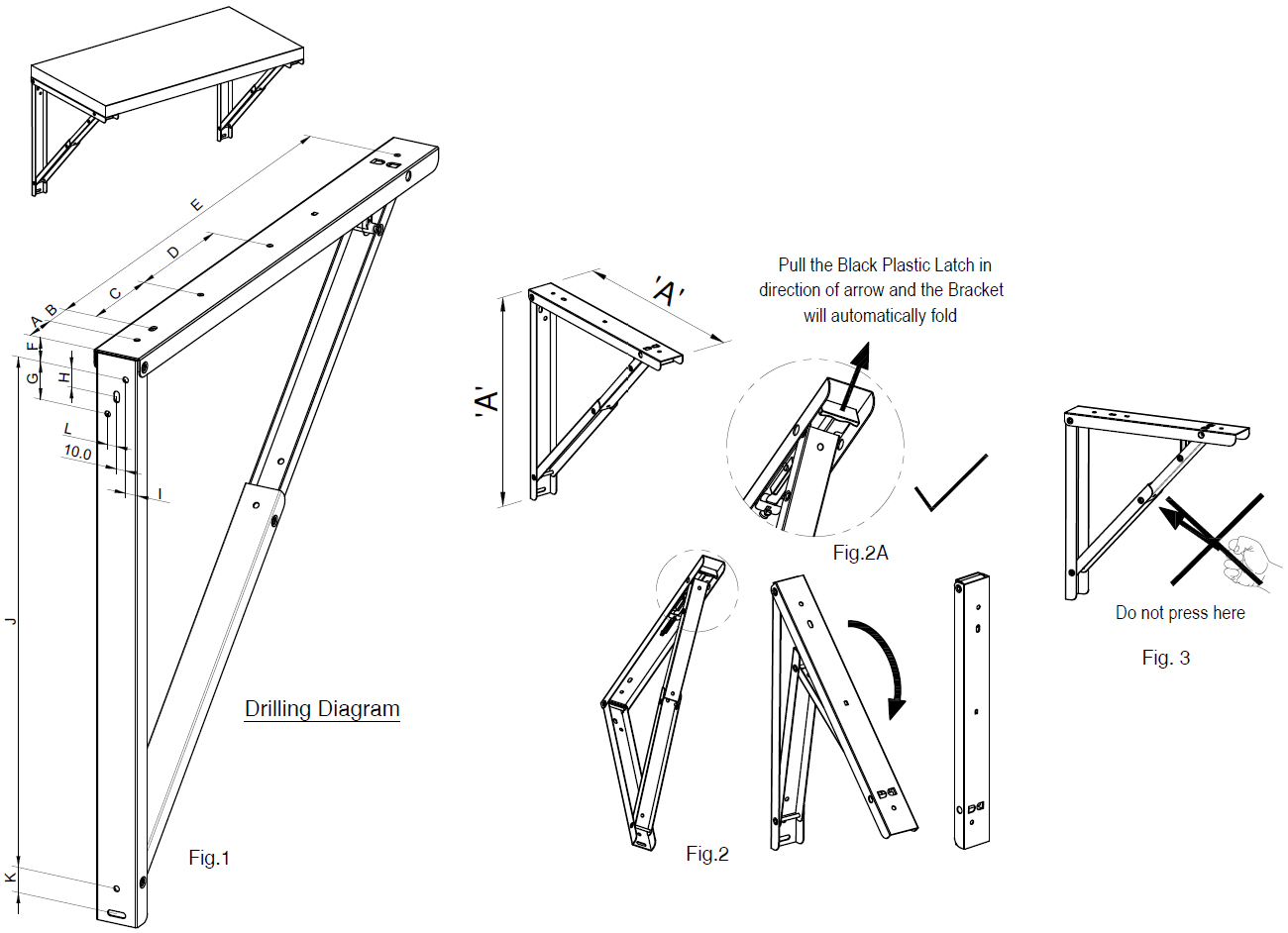 Table Bracket Folding Table Brackets Heavy Duty Folding intended for dimensions 1300 X 942
