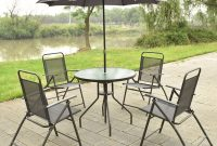 Us 14999 6 Pcs Patio Garden Set Furniture 4 Folding Chairs Table With Umbrella Gray New Hw52116 On Aliexpress throughout sizing 1000 X 1000