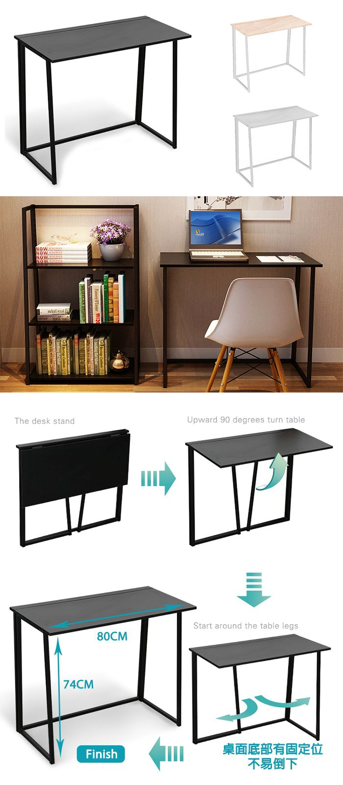 W02 Easy Diy Foldable Desk Wood Suchprice Malaysia throughout dimensions 700 X 1600