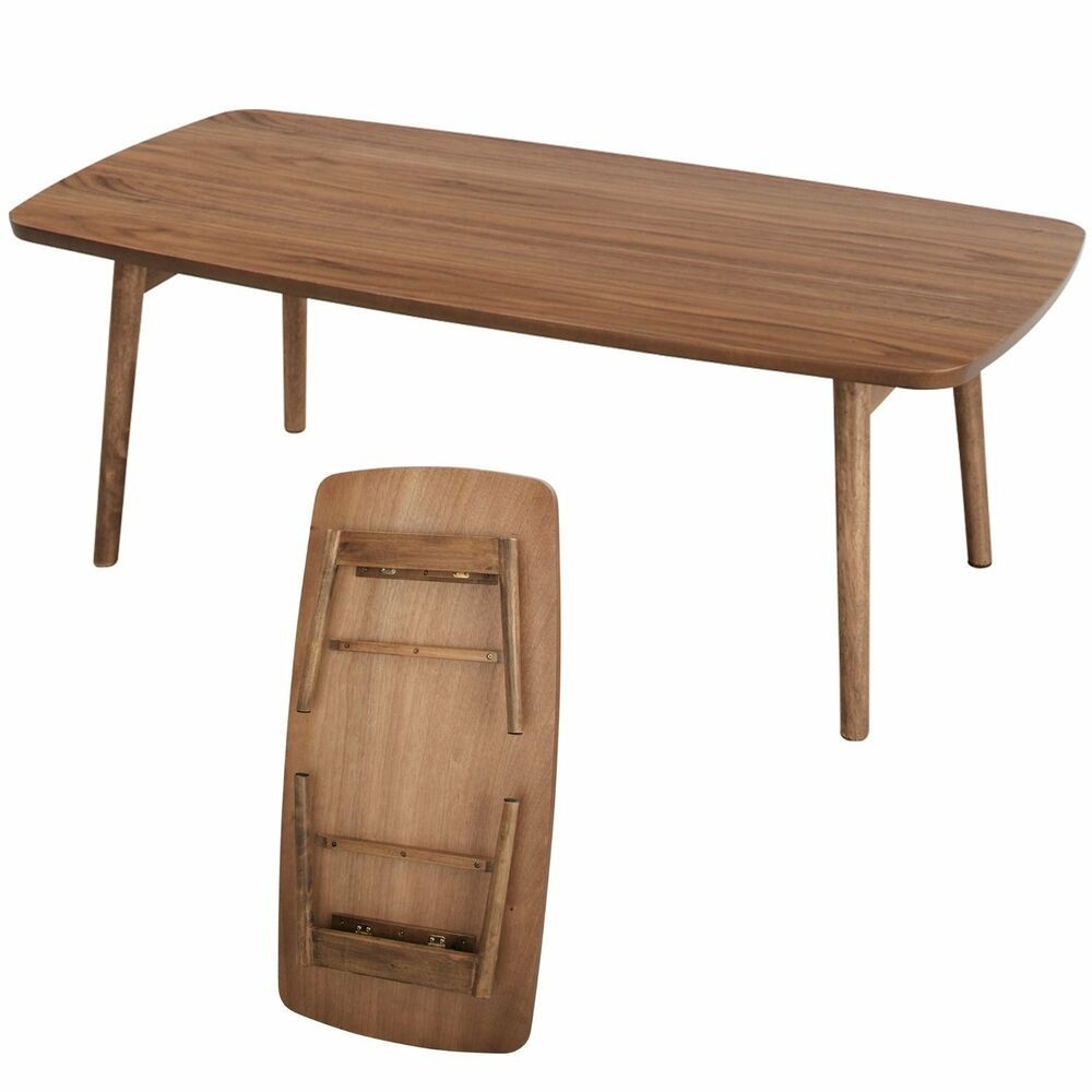 Wooden Folding Table Brown Coffee Center Foldable Leg with regard to dimensions 1000 X 1000